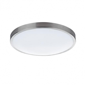 OBA4846/38LE Oban Round Flush Ceiling Light in Satin Chrome