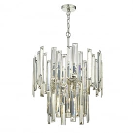 Odile 6 Light Crystal Ceiling Pendant In Polished Nickel Finish ODI0620