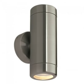 Odyssey Exterior Up and Down Wall Light In Brushed Stainless Steel Finish IP65 ST5008S