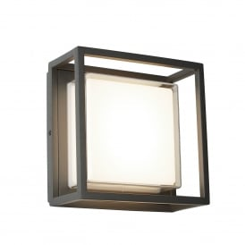 Ohio Outdoor LED Duo Mount Flush Light In Dark Grey Finish IP44 3812GY