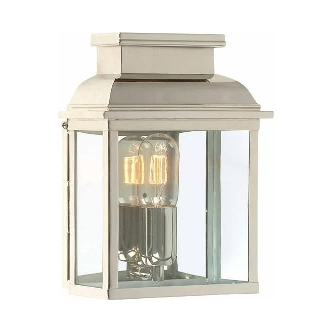 Elstead Old Bailey Solid Brass Outdoor Lantern, Polished Nickel