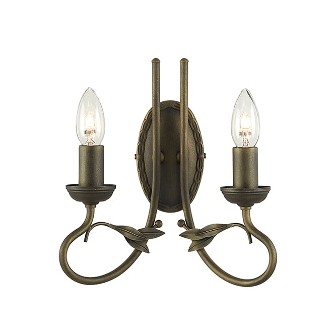 Elstead Olivia Twin Wall Light In Black Finish With Gold Highlights OV2 BLK/GOLD