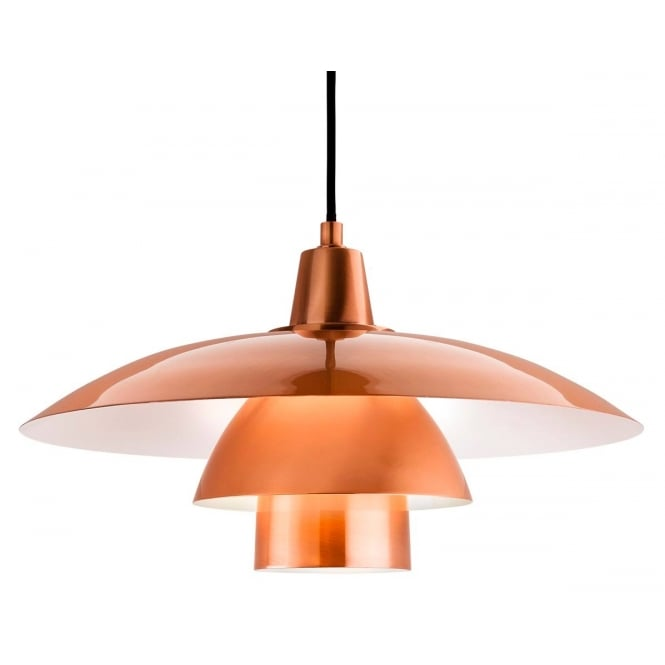 Firstlight Olsen Contemporary Ceiling Pendent Light In Brushed Copper Finish 4853CP