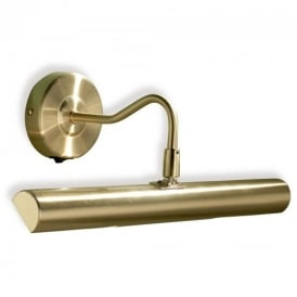 Onedin Satin Brass Picture Light with Switch ONE6741