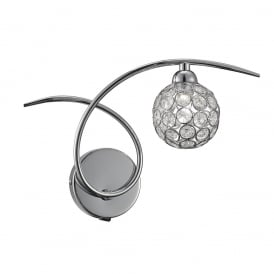 Oracle Modern Crystal Glass Wall Light In Chrome Finish FL2308/1