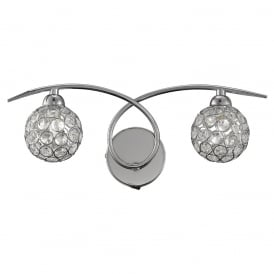 Oracle Modern Crystal Glass Wall Light In Chrome Finish FL2308/2
