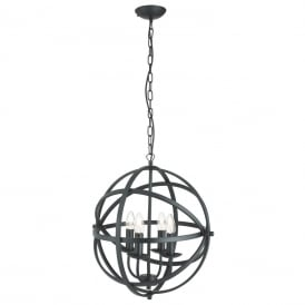 Orbit 4 Light Ceiling Pendant Light In Matt Black Finish 2474-4BK