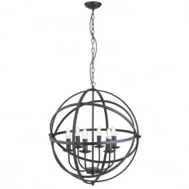 Orbit 6 Light Ceiling Pendant Light In Matt Black Finish 2476-6BK