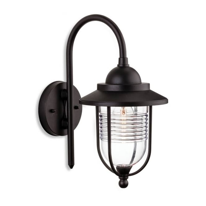 Firstlight Oregon Contemporary Outdoor Wall Lantern In Black Finish IP44 4909