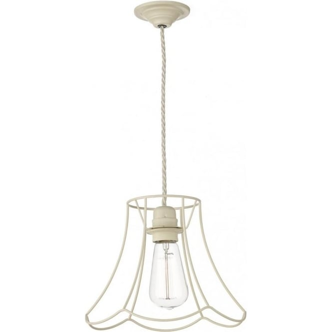 Dar Lighting Oregon Large Cream Ceiling Pendant Light ORE8633