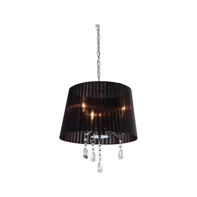 Firstlight Organza 3 Light Chrome and Crystal Ceiling Pendant 8308