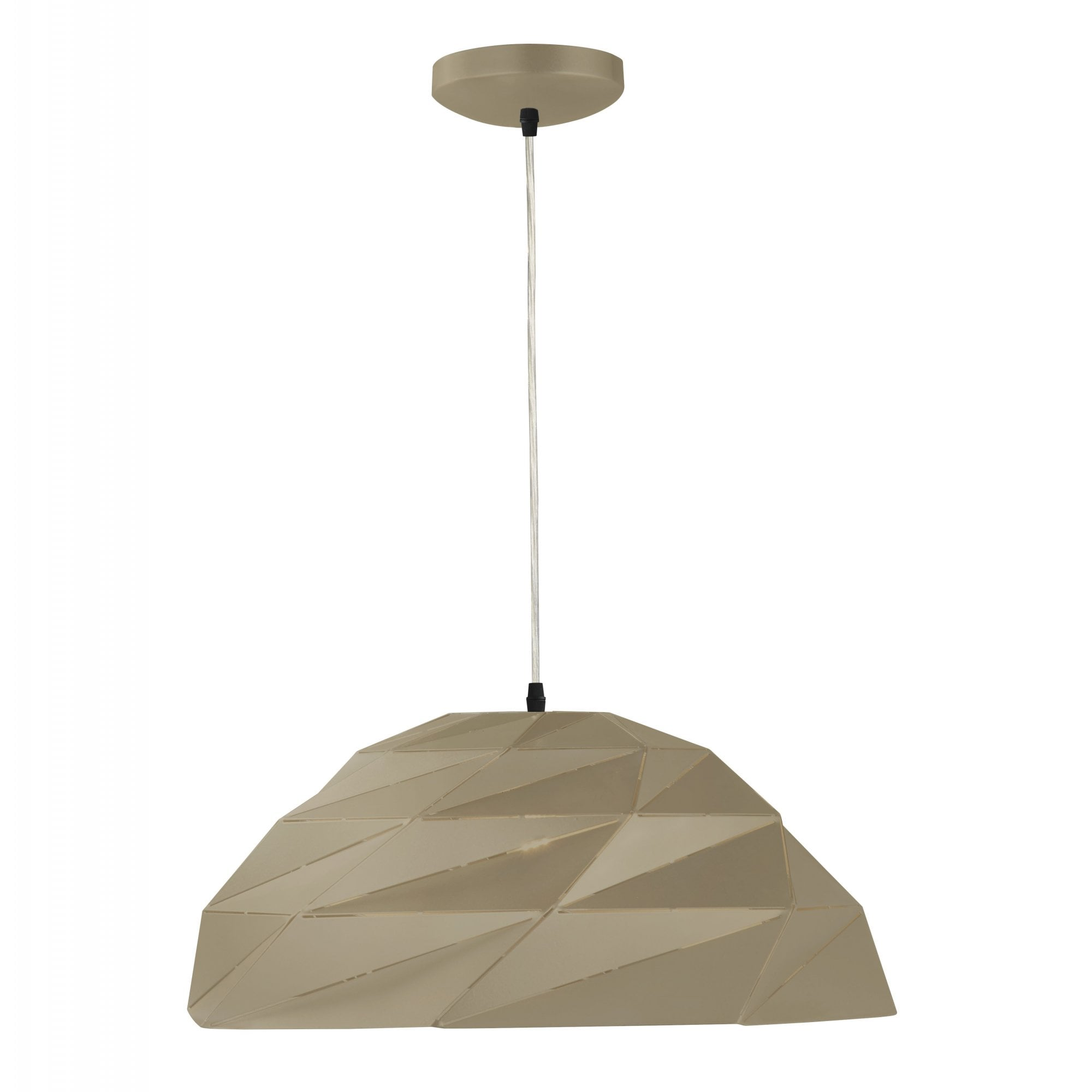 SEARCHLIGHT CONE CEILING PENDANT LIGHT IN BLACK FINISH AND GOLD INNER 7051BK