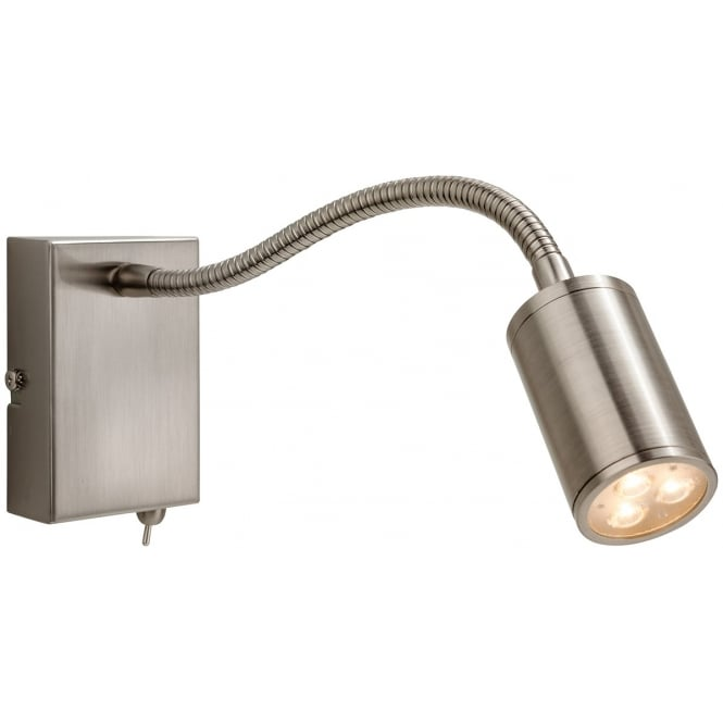 Firstlight Orion LED Flexible Reading Wall Light in Brushed Steel Finish 3454BS