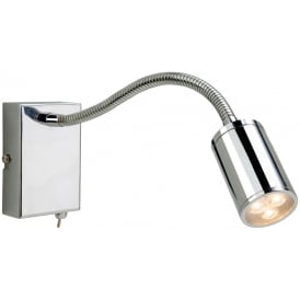 Orion LED Flexible Reading Wall Light in Chrome Finish 3454CH