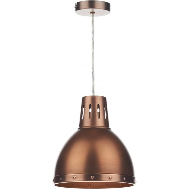 Dar Lighting OSA6564 Osaka Antique Copper Easy Fit Shade