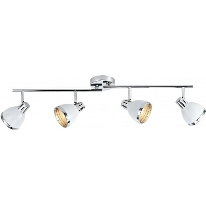 Dar Lighting OSA842 Osaka Gloss White 4 Light Bar Light