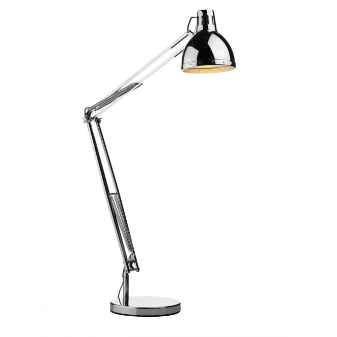 Dar Lighting Osaka Adjustable Floor Lamp In Polished Chrome Finish OSA4950