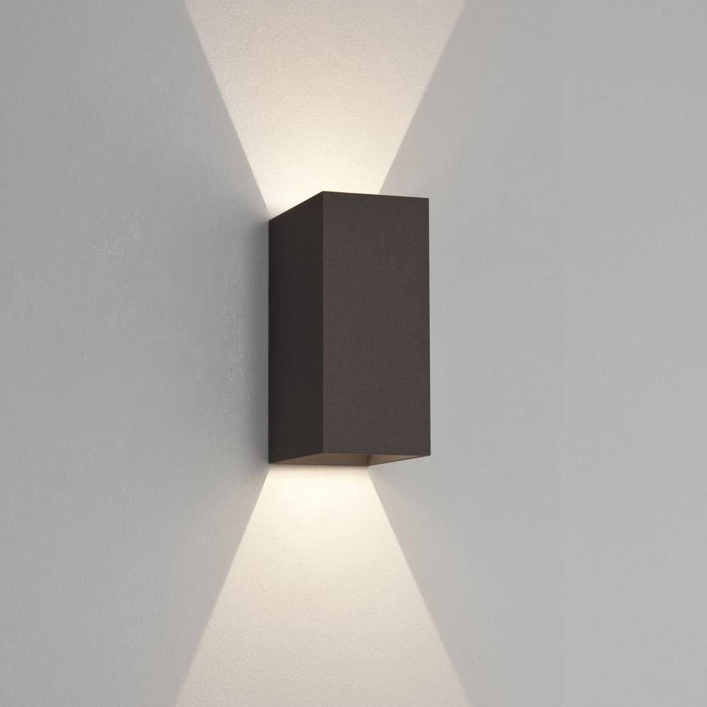 Black Finish Bathroom Lighting: Astro Lighting Oslo 225 Modern Up And Down Bathroom Wall