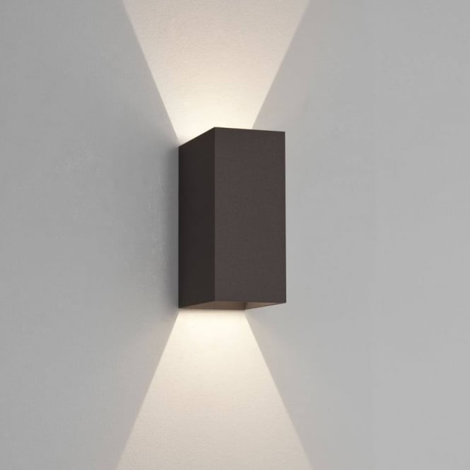 Astro Lighting Oslo 225 Modern Up And Down Bathroom Wall Light In Black Finish 7989