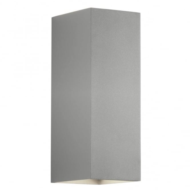 Astro Lighting Oslo 225 Modern Up And Down Bathroom Wall Light In Painted Silver Finish 7990