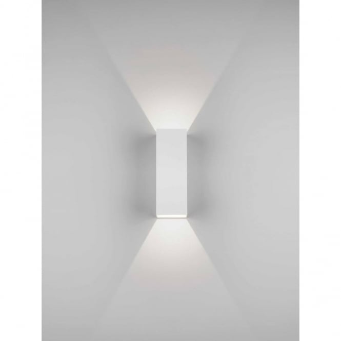 Astro Lighting Oslo 225 Modern Up And Down Bathroom Wall Light In White Finish 7991