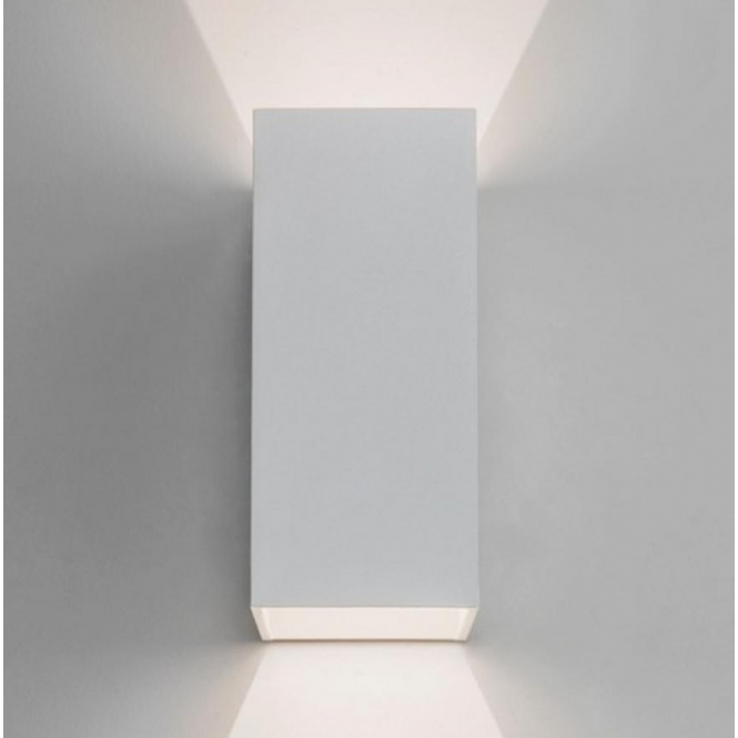 Astro Lighting Oslo Outdoor LED Twin Wall Light in White Finish 7494