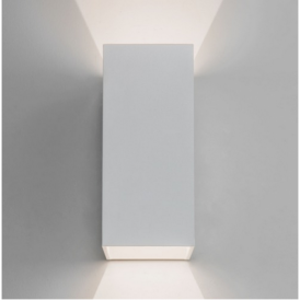 Oslo Outdoor LED Twin Wall Light in White Finish 7494