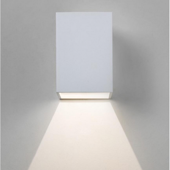 Astro Lighting Oslo Outdoor LED Wall Light in White Finish 7493