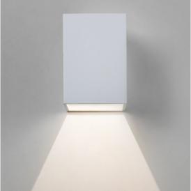 Oslo Outdoor LED Wall Light in White Finish 7493