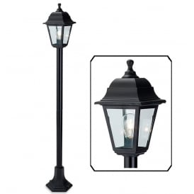 Oslo Outdoor Post Lamp In Black Resin Finish 8348