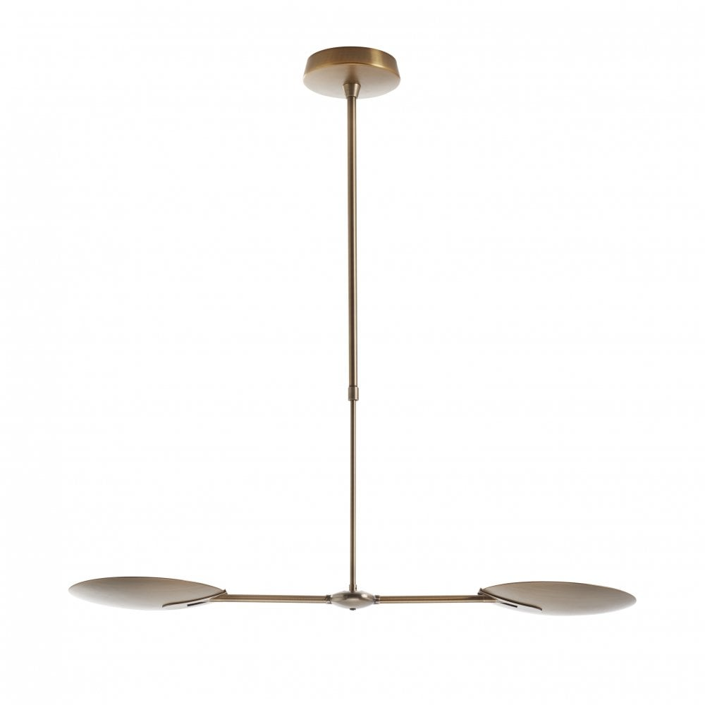 Dar lighting oundle adjustable led 2 light ceiling pendant light in bronze finish oun0263