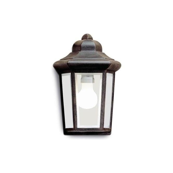 LEDS C4 Outdoor 1 Light Aluminium Copper Brown Finish Wall Lantern Perseo 05-8762-18-37 ...