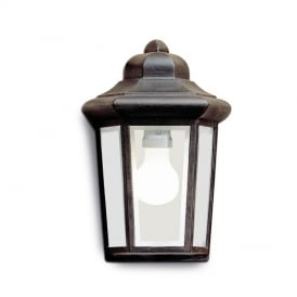 Outdoor 1 Light Aluminium Copper Brown Finish Wall Lantern Perseo 05-8762-18-37