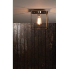 Outdoor Ceiling Light In Polished Nickel Finish BOX 7846