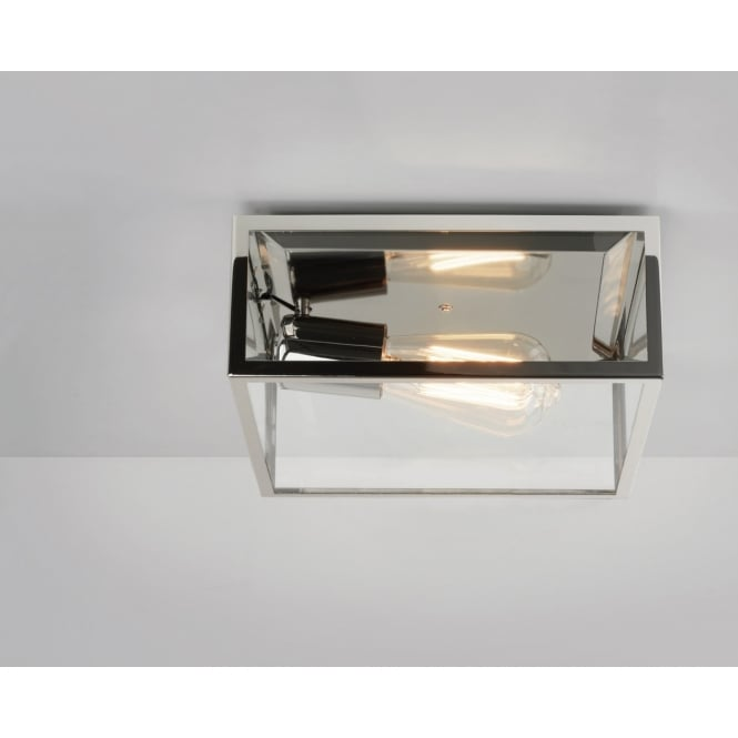 Astro Lighting Outdoor Ceiling Light In Polished Nickel Finish BRONTE 7866