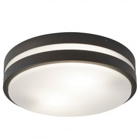 Outdoor Flush Ceiling Light In Dark Grey Finish IP44 3792-2GY