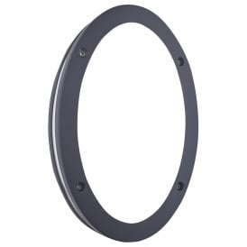 Outdoor LED Oval Wall Light In Black Finish IP44 2779bk