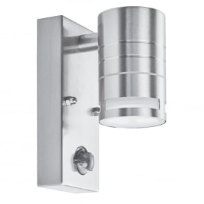 Outdoor Modern LED PIR Wall Light In Stainless Steel Finish IP44 1318 1