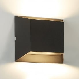 Outdoor Modern LED Rectangular Wall Light In Black Finish IP44 5111BK