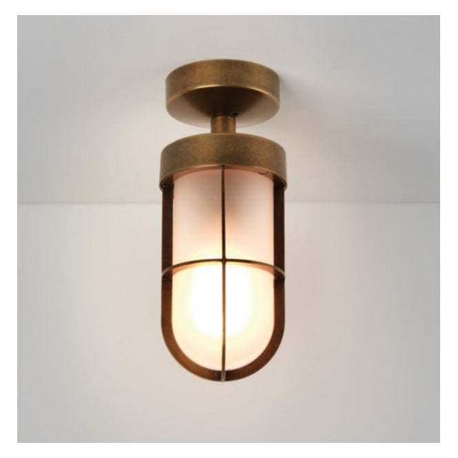 Astro Lighting Outdoor Semi Flush Ceiling Light in Bronze Plate Finish CABIN 7854