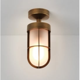Outdoor Semi Flush Ceiling Light in Bronze Plate Finish CABIN 7854