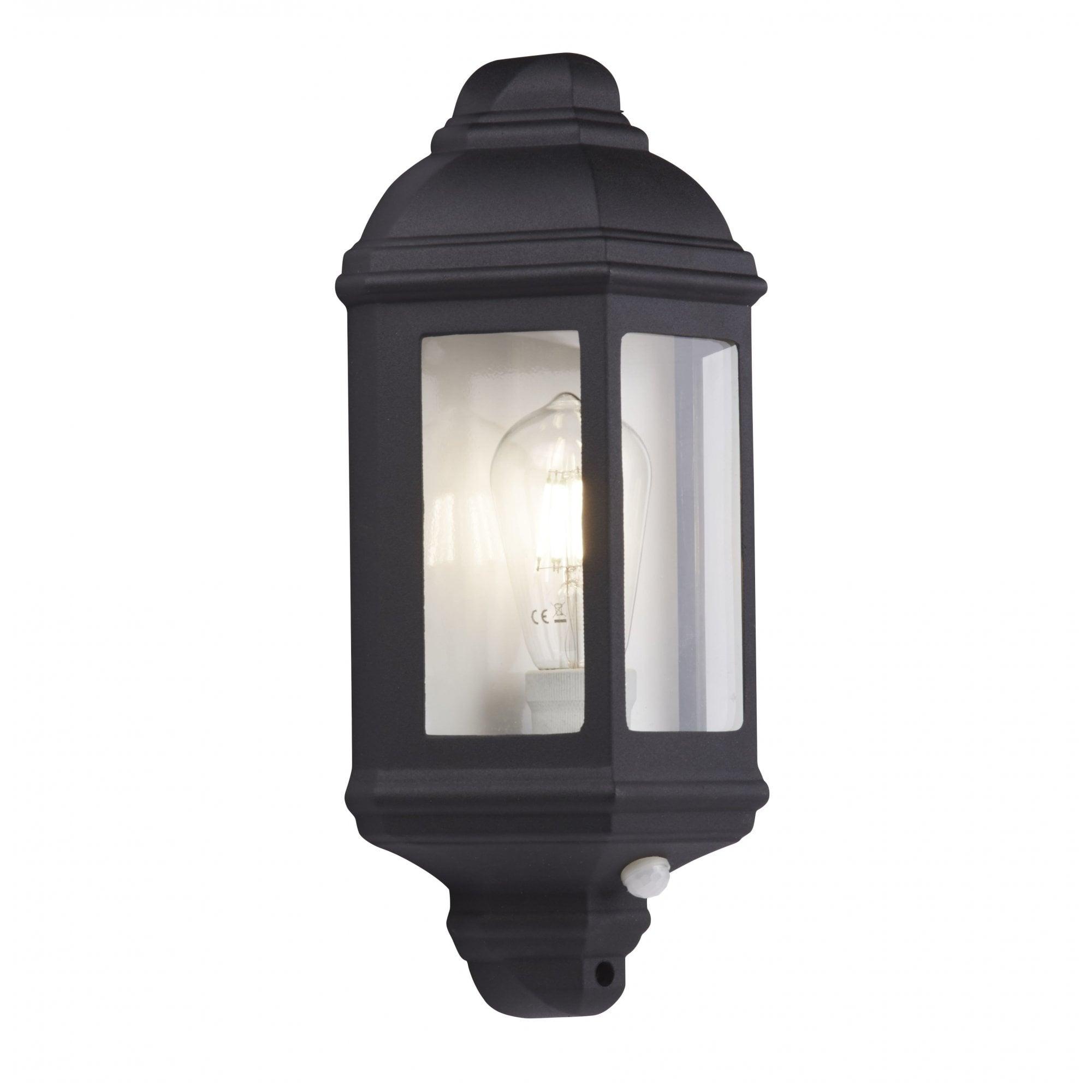 Outdoor Garden Black Finish Stainless Steel PIR Wall Light IP44