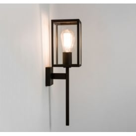 Outdoor Wall Light In Black Finish With Clear Glass Panels COACH 130 7563