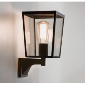Outdoor Wall Light In Black Finish With Glass Panels FARRINGDON 7488