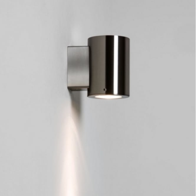 Astro Lighting Outdoor Wall Light In Brushed Stainless Steel Finish IP44 DETROIT 7571