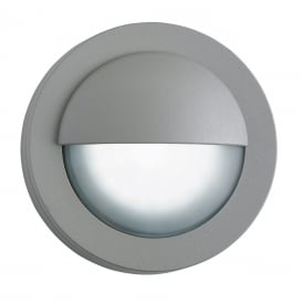 Outdoor Wall Light In Grey Finish With Acid Glass Diffuser IP44 1402GY