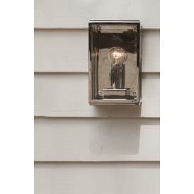 Outdoor Wall Light In Polished Nickel Finish HOMEFIELD 7591