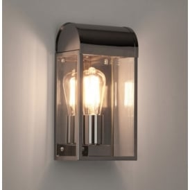 Outdoor Wall Light In Polished Nickel Finish with Glass Panels NEWBURY 7863