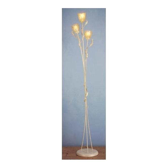 Elstead OV/FL/A Olivia floor lamp three light with glass shades