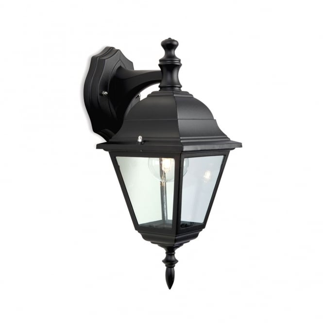 Firstlight Panel Outdoor Downlight Wall Lantern In Black Finish E201